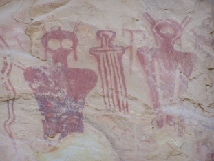 Barrier Canyon Pictographs in Thompson Canyon, Utah
